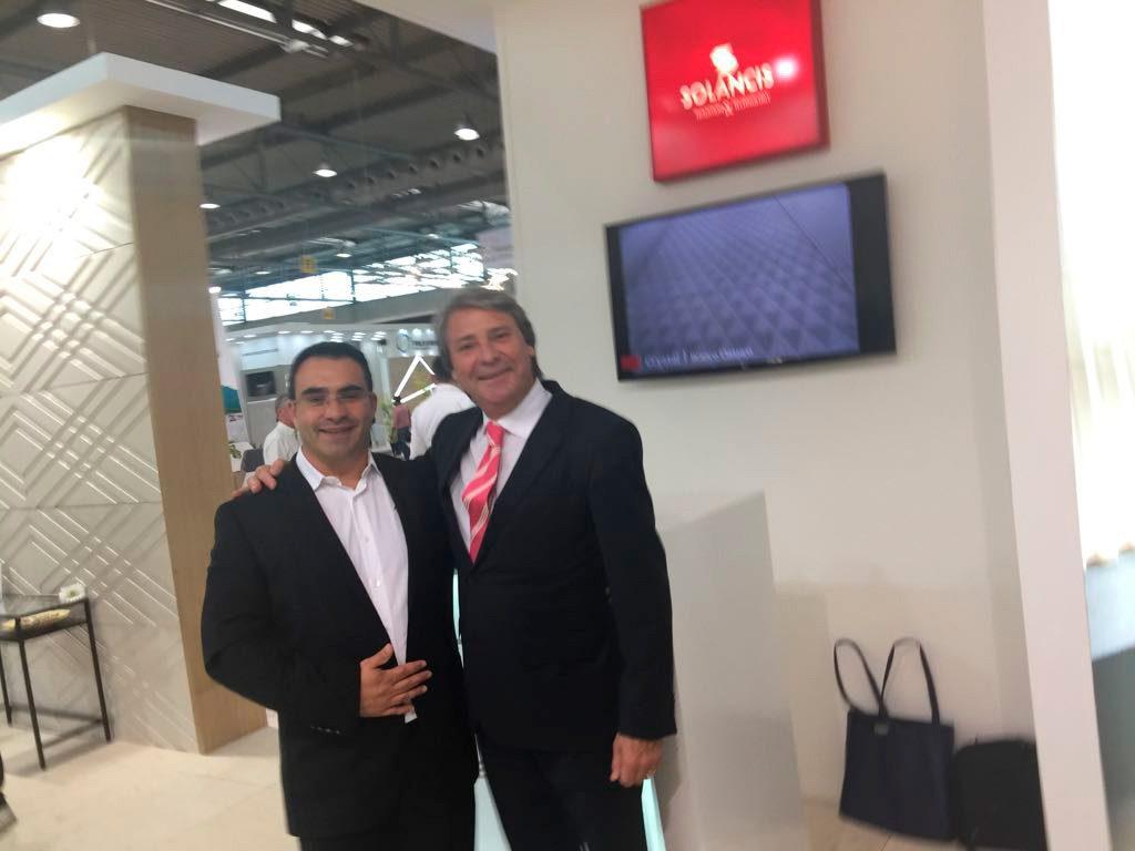Daniel Pereira com Sérgio da SOLANCIS