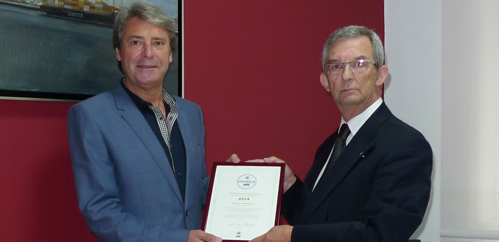 APAT 2014 Certificate of Excellence
